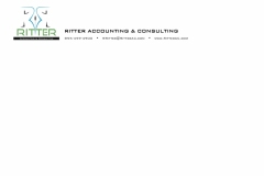 Ritter Accounting and Consulting Letterhead